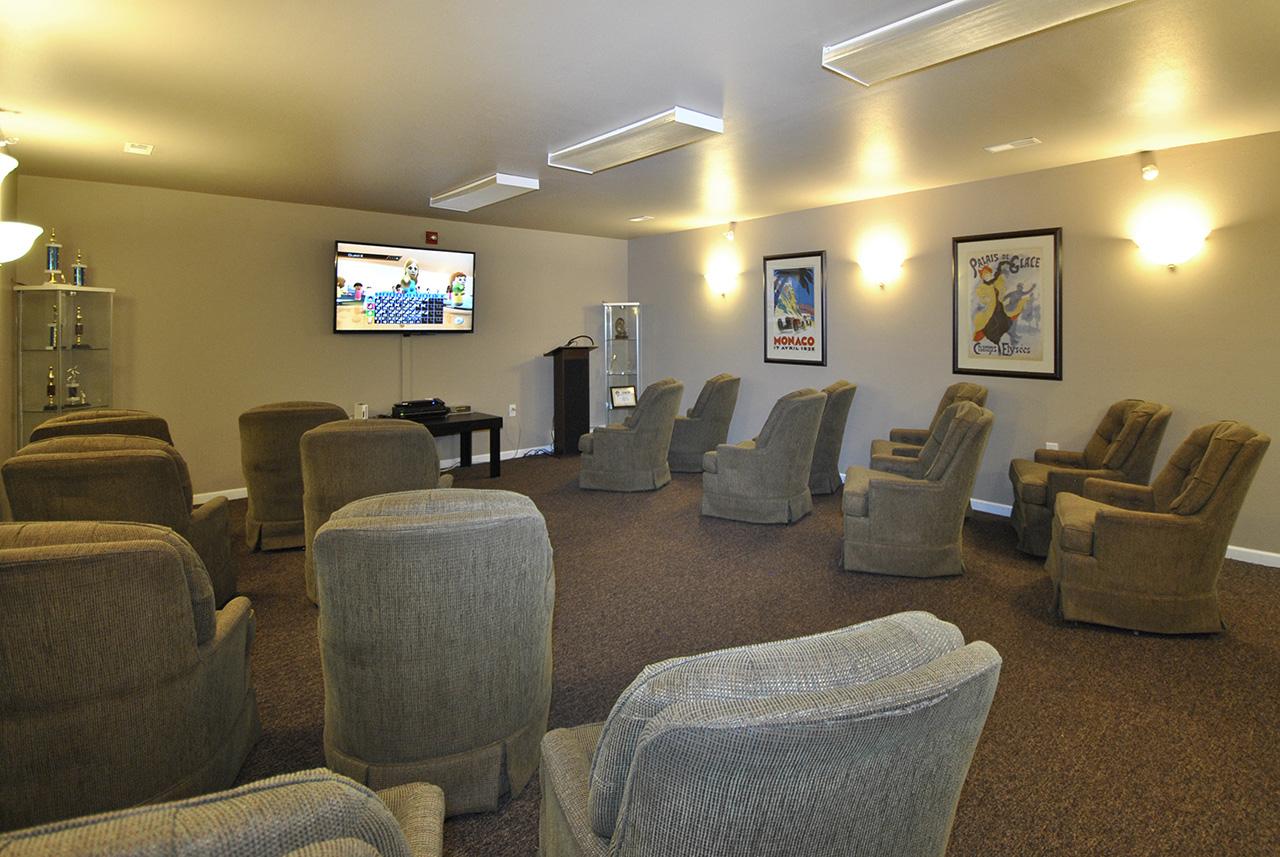 Movie theatre at Swanhaven Manor