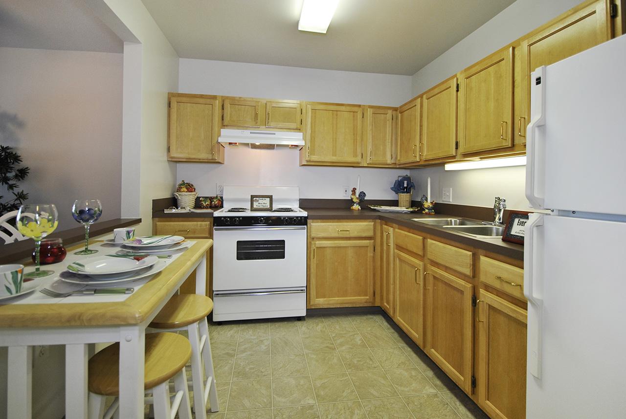 Kitchen interior of Swanhaven Manor apartment