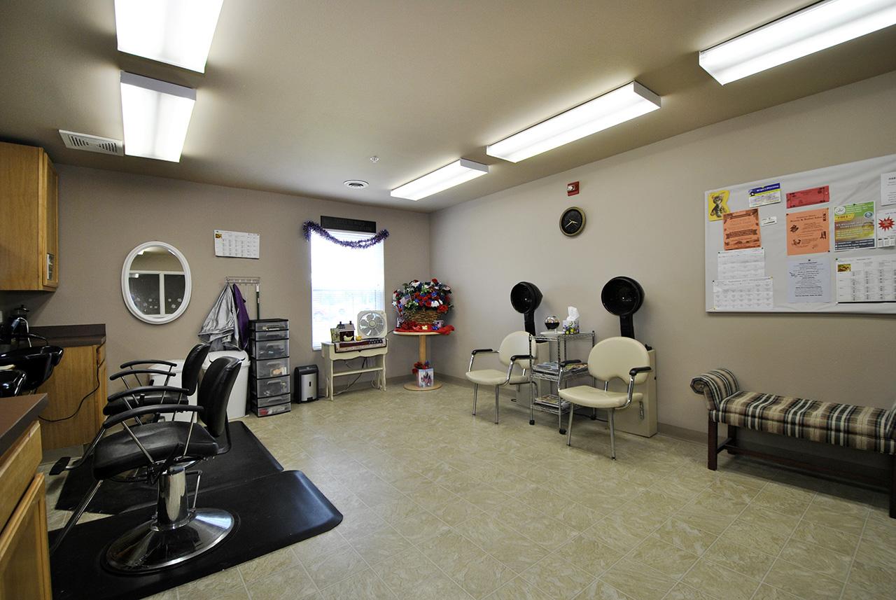 Beauty salon at Swanhaven Manor