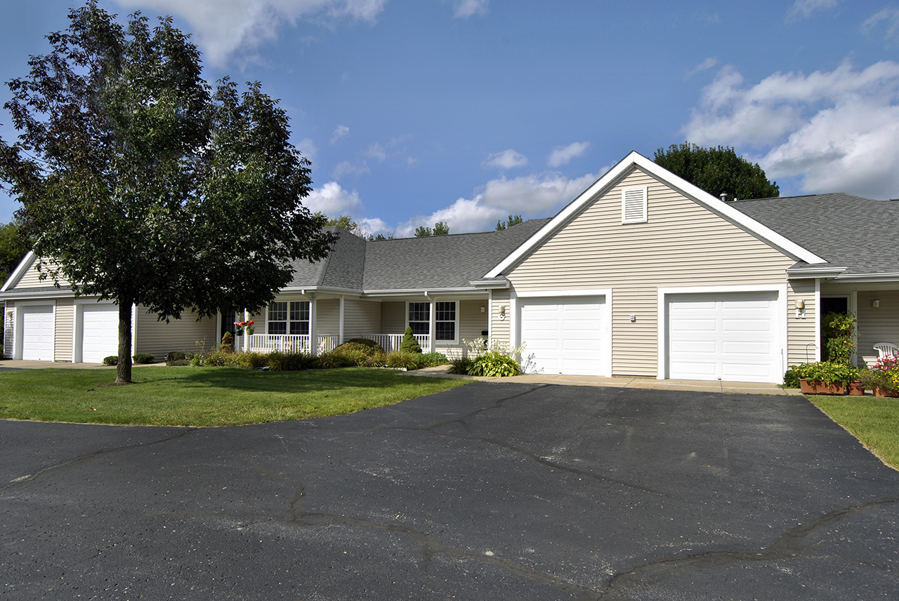 Exterior of Swanhaven Manor home with double garages