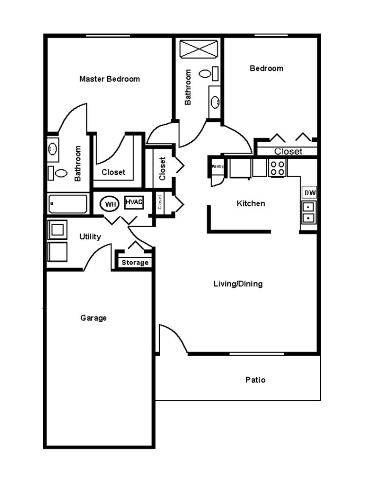 Swanhaven Manor cottage floor plan